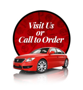 Visit or call us to order, pizza delivery